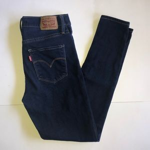 Levi's 720 Dark Wash High Rise Super Skinny Jeans